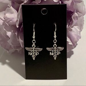 NP Nurse Practitioner Caduceus Earrings